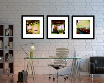 Chicago Photography  Home Decor  Chicago Subway Wall Art  Abstract Art,  Under 100, Subway Decor, Office Decor  The Subway Series