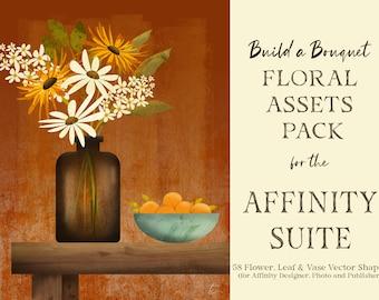 Flower, Leaf & Vase Vector Assets for Affinity   Designer, Photo, Publisher