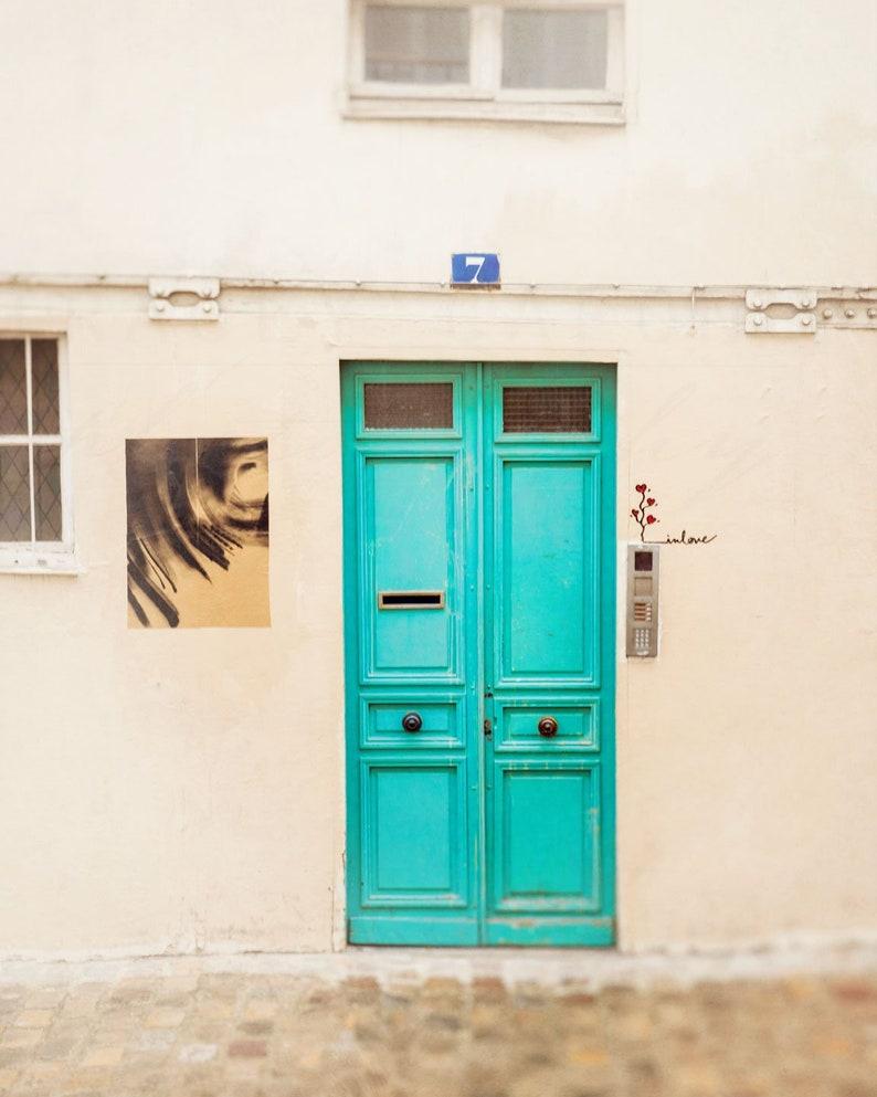 Paris Photograph Door Wall Art Print Parisian Home Decor | Etsy