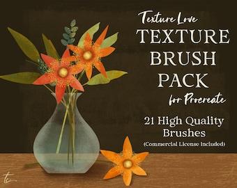 Procreate Texture Brushes   Procreate Brush Pack   Textured Brushes for Procreate   Handmade Textures for Procreate
