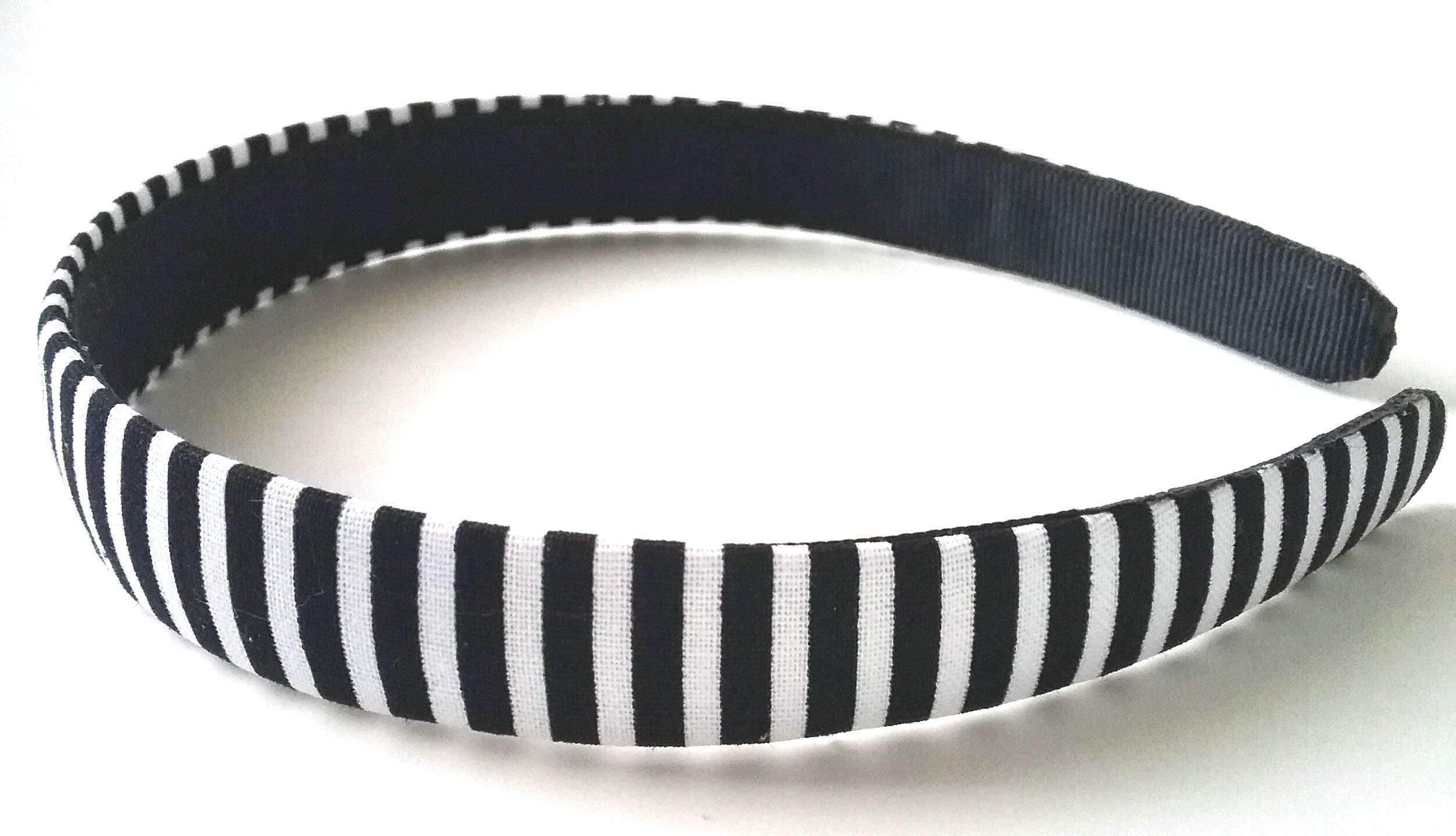 Black White Striped Headband 34 Inch  211fcfaad27