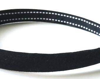 Bodacious Black Headband 1/2 Inch