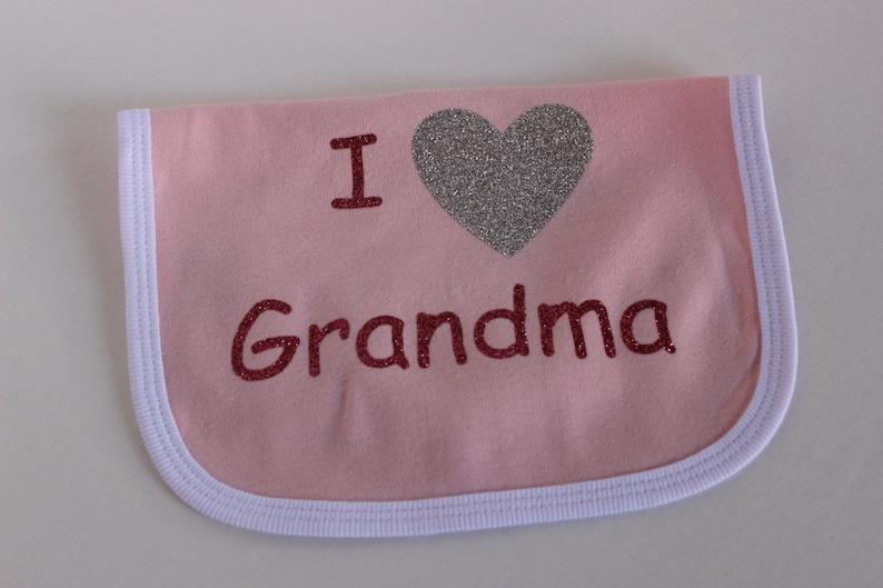 I love Grandma Onesie set baby shower Infant girl pink onesie bib