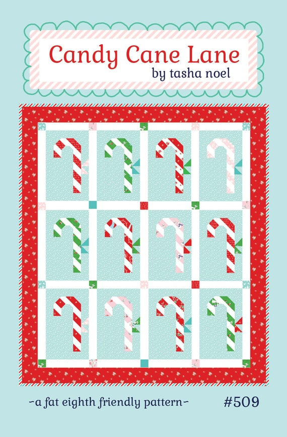 Candy Cane Lane Quilt Pattern Pdf Tasha Noel Etsy