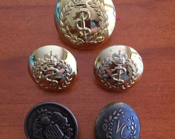 New All Saints Military Style Shank Buttons x 10 Free P/&P 18mm