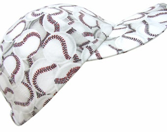 The All Star - Red White Black Baseballs Print Baseball Ball Cap in Cool Comfy Cotton - Ladies Women Men Sports Fashion Hat by Calico Caps®