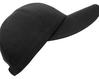 The Jet Set - Dark Jet Black Baseball Ball Cap Luxurious 100% Cotton Sateen Fabric Ladies Womens Fancy Fashion Hat by Calico Caps®