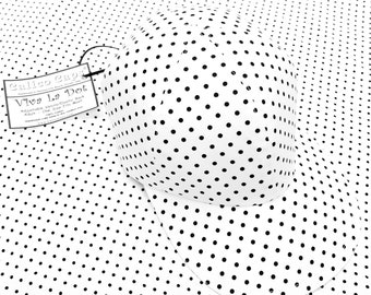 SALE - Viva La Dot - Ladies Womens Black and White Polka Dot Print Baseball Ball Cap Cute B&W Cool Cotton Summer Fashion Hat by Calico Caps®