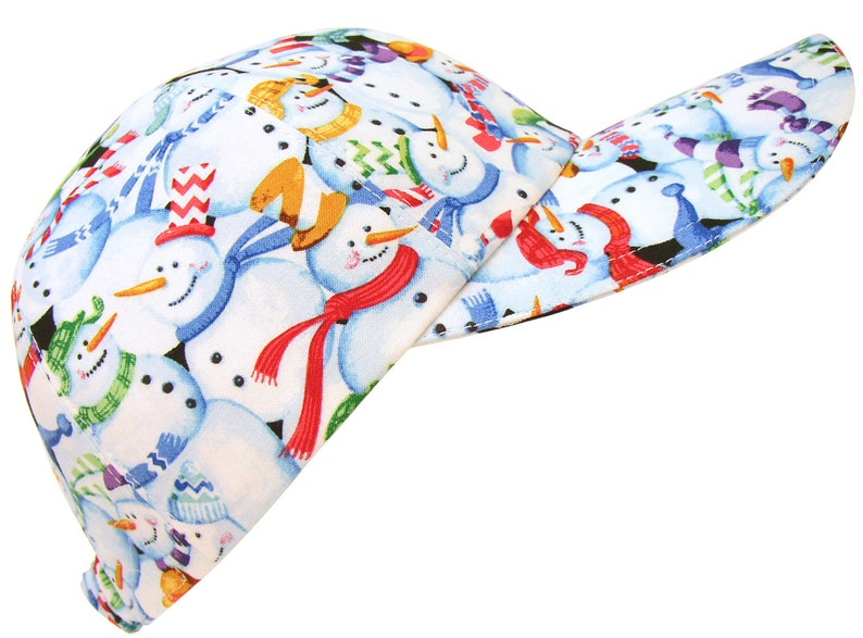 4ca344cd2 Snow Day! - Snowman Print Baseball Ball Cap Ladies Womens Fun Winter  Fashion Sports Hat with snowmen in top hats and scarves by Calico Caps®