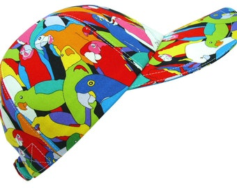 Polly Nation - OSFMost - Parrot Parakeet Cockatoo Tropical Talking Bird Baseball Ball Cap Ladies Women Men Summer Sports Hat by Calico Caps®