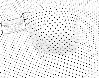 SALE - Viva La Dot - Ladies Womens Black and White Polka Dot Print Baseball Ball Cap Cute B&W Summer Fashion Hat by Calico Caps® - LAST ONE!