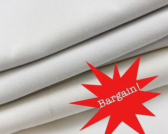 White cotton drill fabric bundle, roll ends