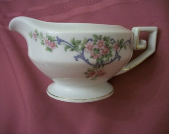 Reduced Creamer TIRSCHENREUTH Bavaria The Eaton 4251  Pink flowers Shabby Chic