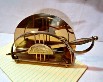 Support de lettre vintage et ouvre-porte, porte lettre en laiton fabriqué en Angleterre