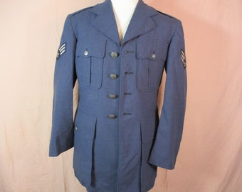 Air Force Dress Uniform, Military Jacket, Air Force Tropical Blue Jacket, Size 35 R