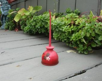 Garden Oil Can, Vintage Garden Decor