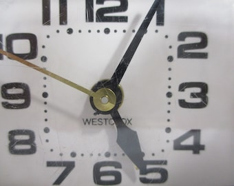 Vintage Alarm Clock, Westclox Sixties Mid-Century Style, Still Works