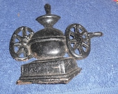 vintage cast iron coffee grinder wall hanging