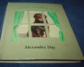vintage pop up action book Carl Pops up Alexandra Day
