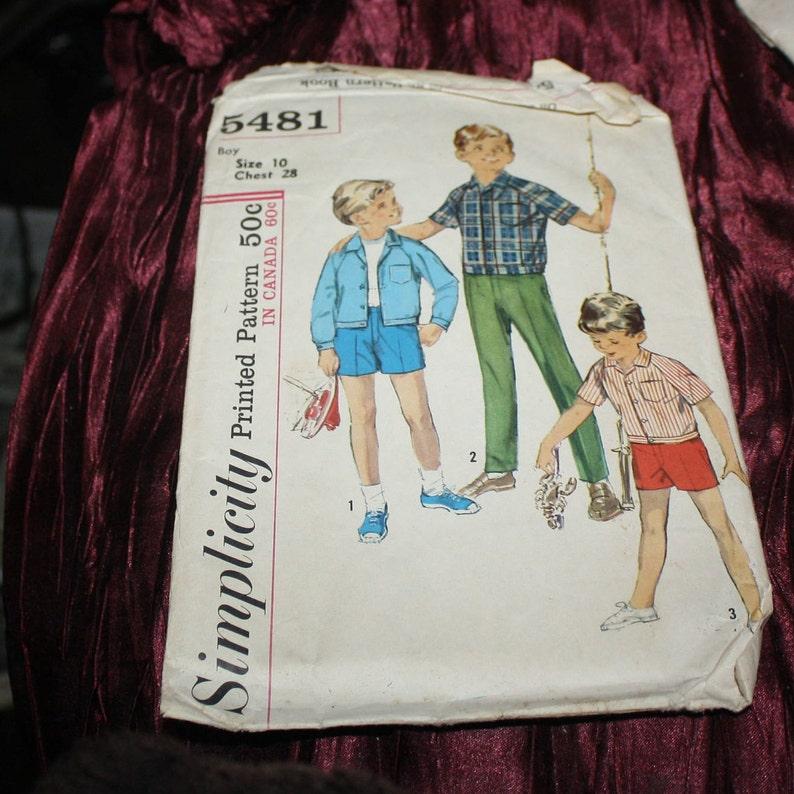 502974cd2bd Simplicity 5481 boys vintage shirt pants jacket retro size 4