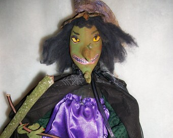 PATTERN,Primitive Halloween Witch doll  23 inches long. Miss Razzleberry, by Dumplinragamuffin,#105