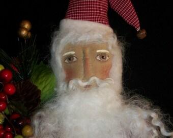 PATTERN,Primitive Santa doll , Christmas decor, by Dumplinragamuffin, #139