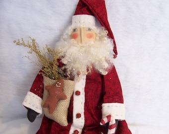 Pattern For Primitive Santa Doll 18 Inch Christmas Display By Dumplinragamuffin PO49