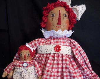 Pattern, primitive Annie dolls,20 in. original design by Dumplinragamuffin,#121