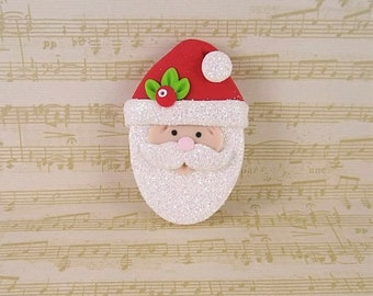 6 PC CHRISTMAS GRINCH FACE RESIN FLATBACK FLAT BACK RESINS HAIR BOW CENTERS