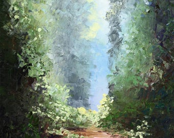 Light on Sperry Trail print landscape impressionistic poster or canvas prints various sizes