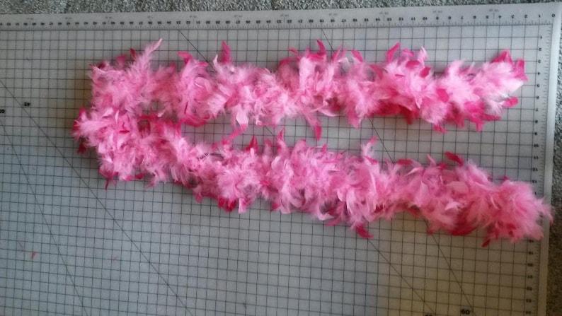 Dark and light pink turkey feather boa