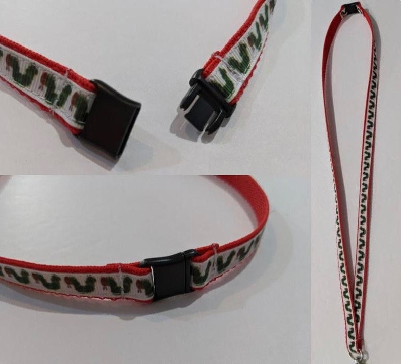 Handmade Texas 12 Wide Lanyard with a Lobster Claw ID Clip
