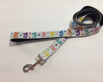 White with Care Bears 5 Foot Pet Leash