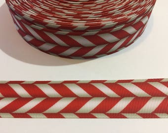 """3 Yards of 1"""" Ribbon - Candy Cane Stripes"""