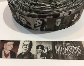 """3 Yards of 1"""" Ribbon - Munsters"""
