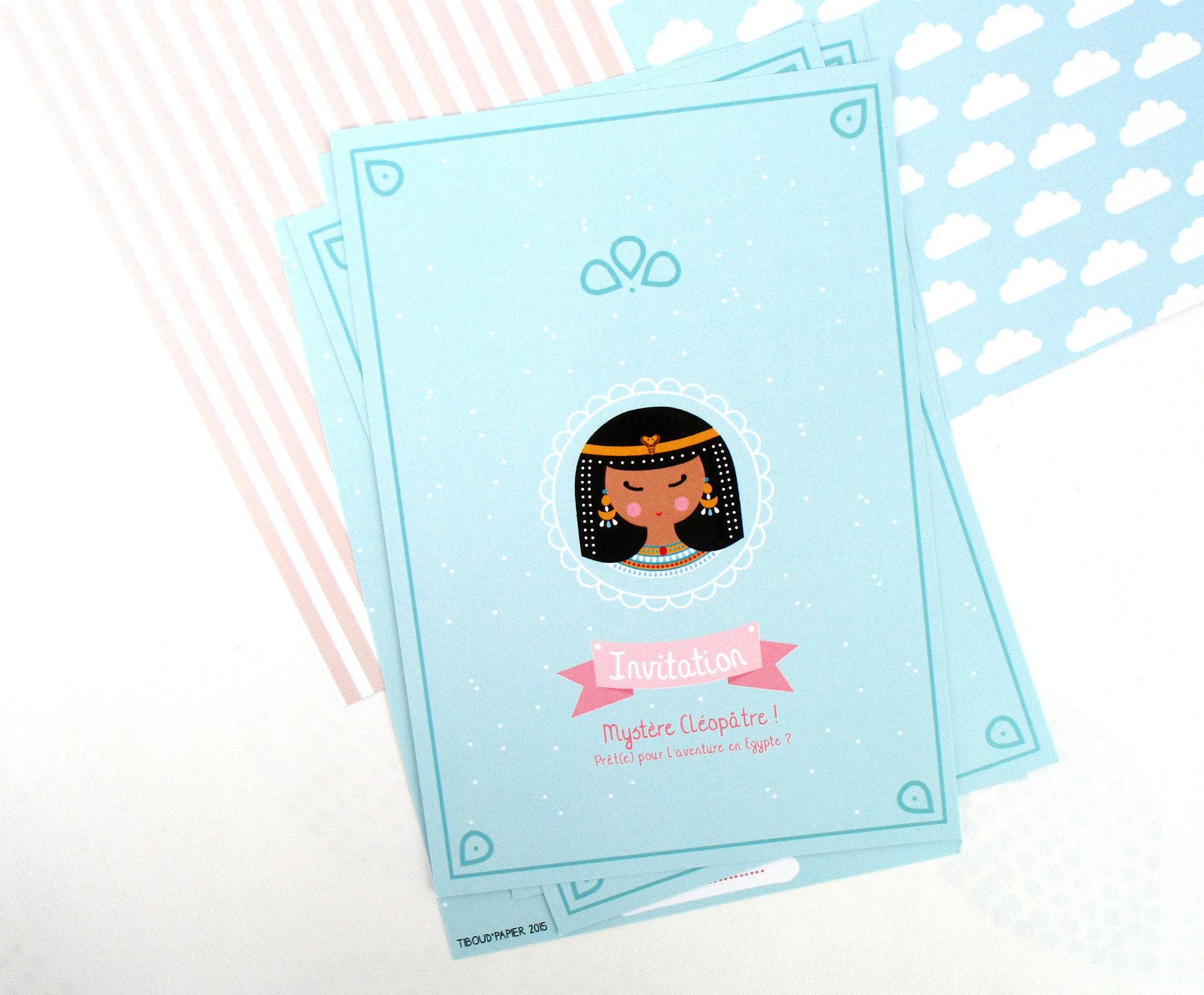 Cartons d'invitation anniversaire thème Egypte | Etsy