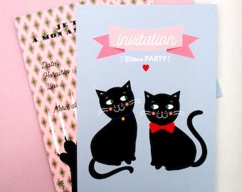 Birthday invitation cards theme ' CHAT '