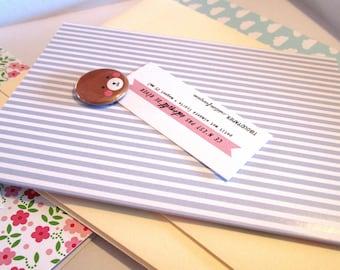 Handmade autumn card with chocolate :)