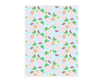 Paper notebook pinapple / fruity pineapple, watermelon and citrus - A5 size notebook