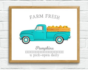 Farm Fresh Pumpkins Printable Art