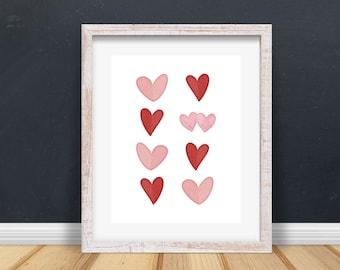 Hearts Printable Art