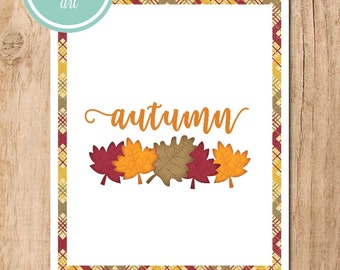 Autumn Leaves Printable Art | Fall Decor | Fall Wall Art