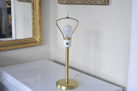 Nessen Table Lamp, Walter Von Nessen, Simple Brushed Brass Mid Century Lighting