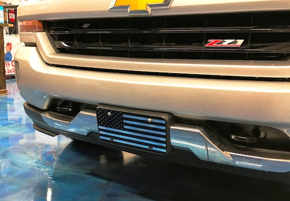 American Flag License Plate - Mirror Chrome - Customizable. - mirror car tag