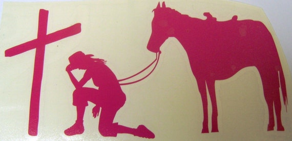 Praying Cowgirl Decal