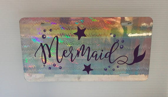Mermaid License Plate - Mermaid Car Tag - Mermaid Girl - Mermaids