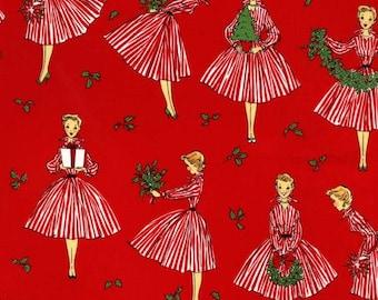 Michael Miller Holiday Hostess Christmas Fabric, yards