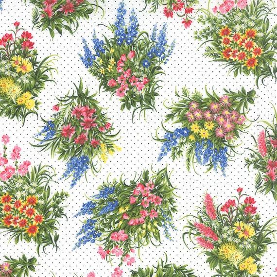 Moda WILDFLOWERS VII Sky 32975 12 Quilt  Fabric BTY Sentimental Studios