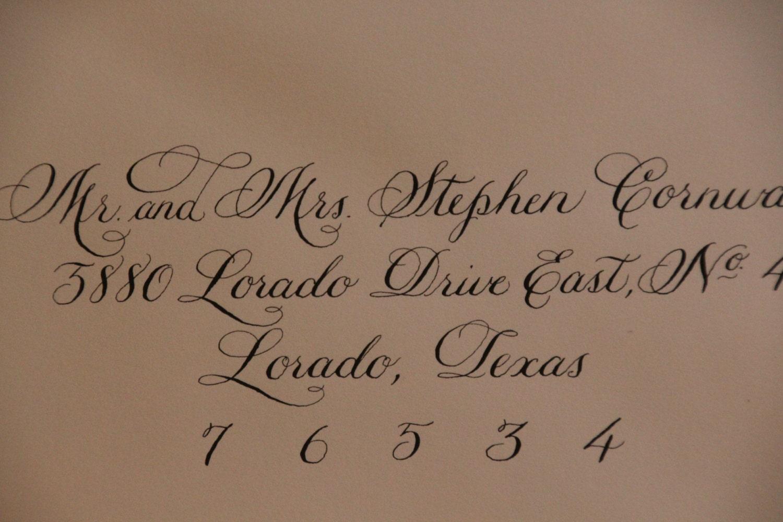 Wedding Invitation Envelope Calligraphy: Wedding Invitation Envelope Calligraphy