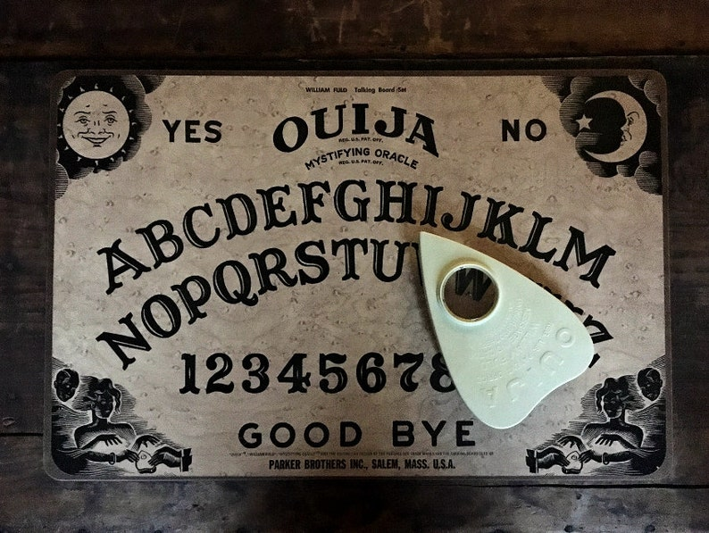 Vintage Ouija Board, Talking Board Set, William Fuld, Mystifying Oracle,  Parker Brothers, Paranormal, Psychic Game, Salem Massachusetts